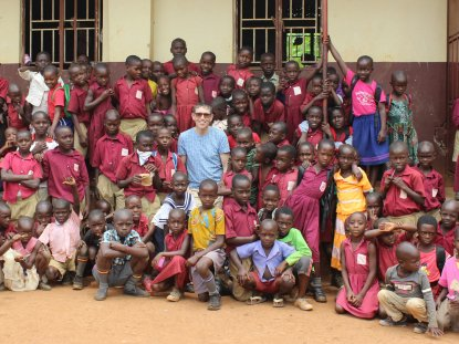 James at a School in Uganda